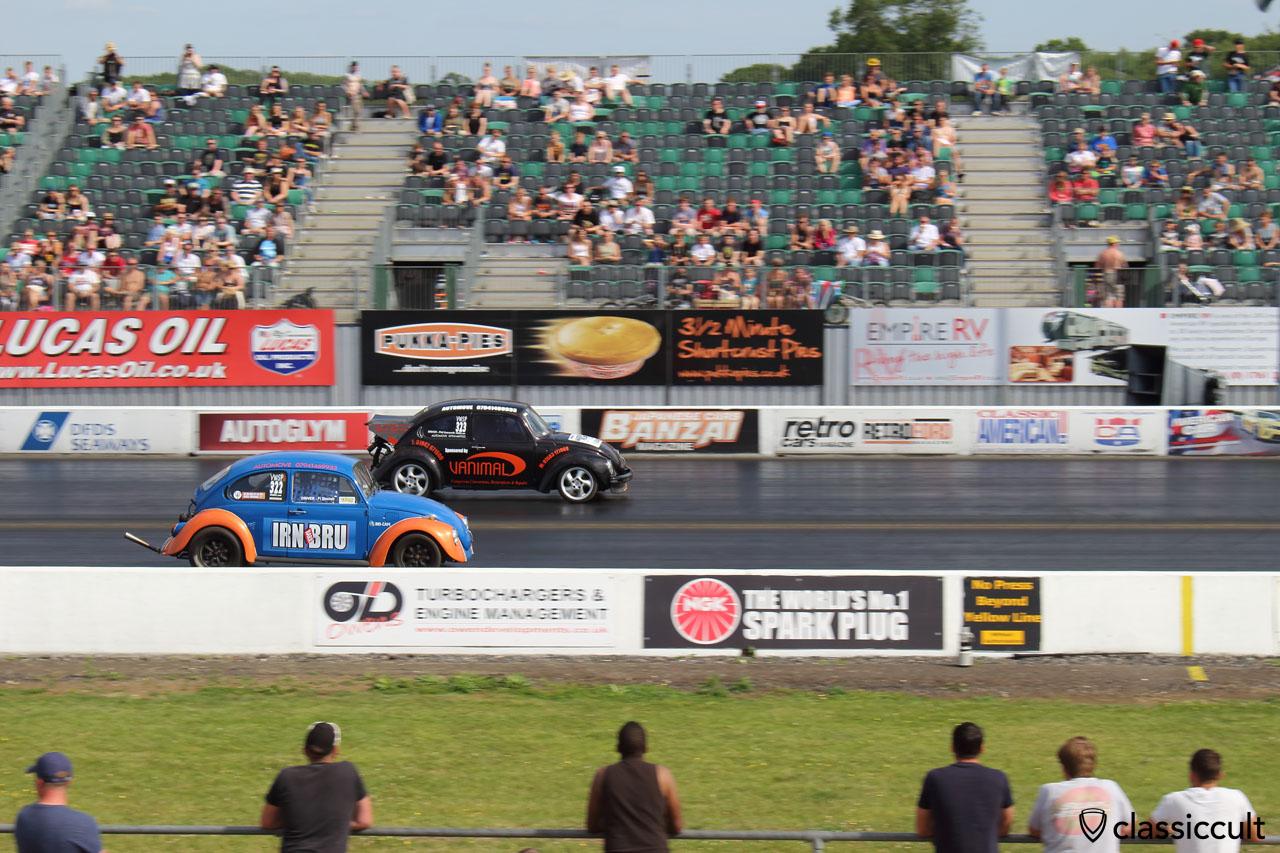 VW Beetles Drag Racing