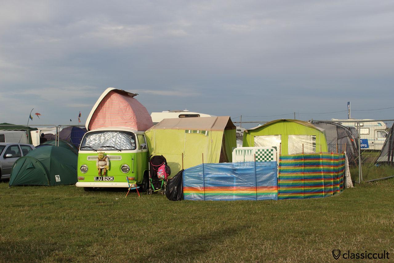 VW T2a dormobile camping at Bug Jam