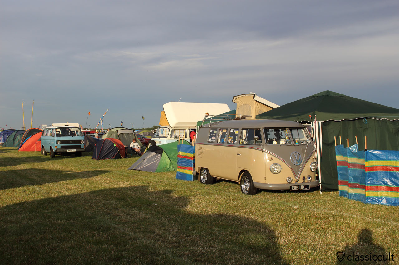 VW T1, T2 and T3 at campground