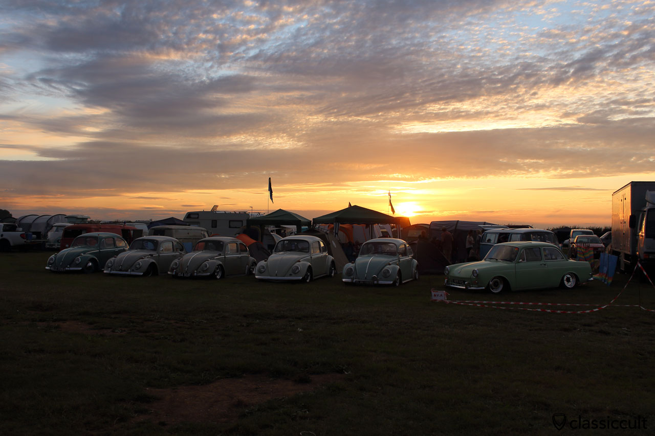 Sunset at Bug Jam 2015, EVA Volkswagen Club Uk, 8:53 p.m.