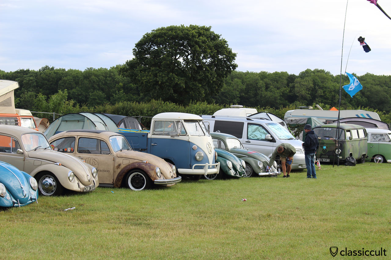 Next day at Bug Jam VW Fest 2015, Telefunken VW Oval gets polished, Sunday 19th July, 7:54 a.m.