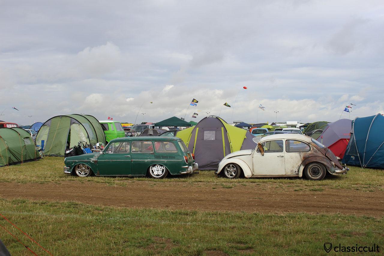 low Type 3 squareback, low VW Beetle