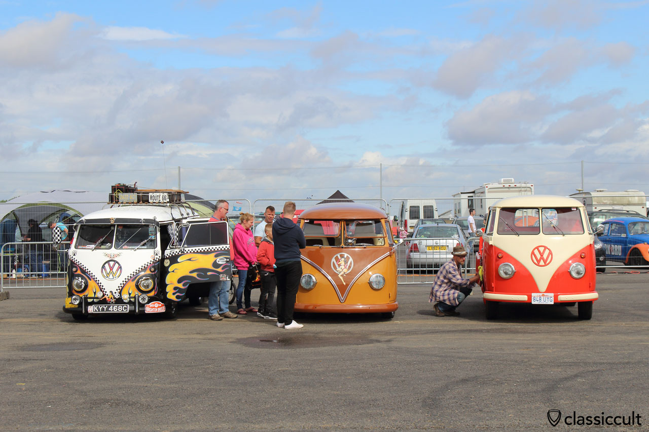 VW T1 pickup gets cleaned by owner Chris Hansen, who is from California and his Bus is in family hand since new, Bug Jam 2015