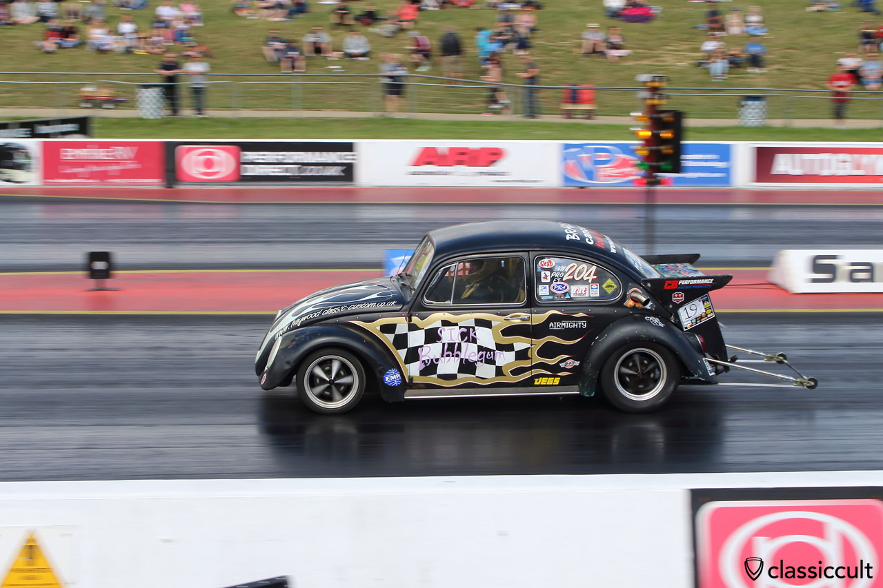 Stick Bubblegum VW Beetle drag race