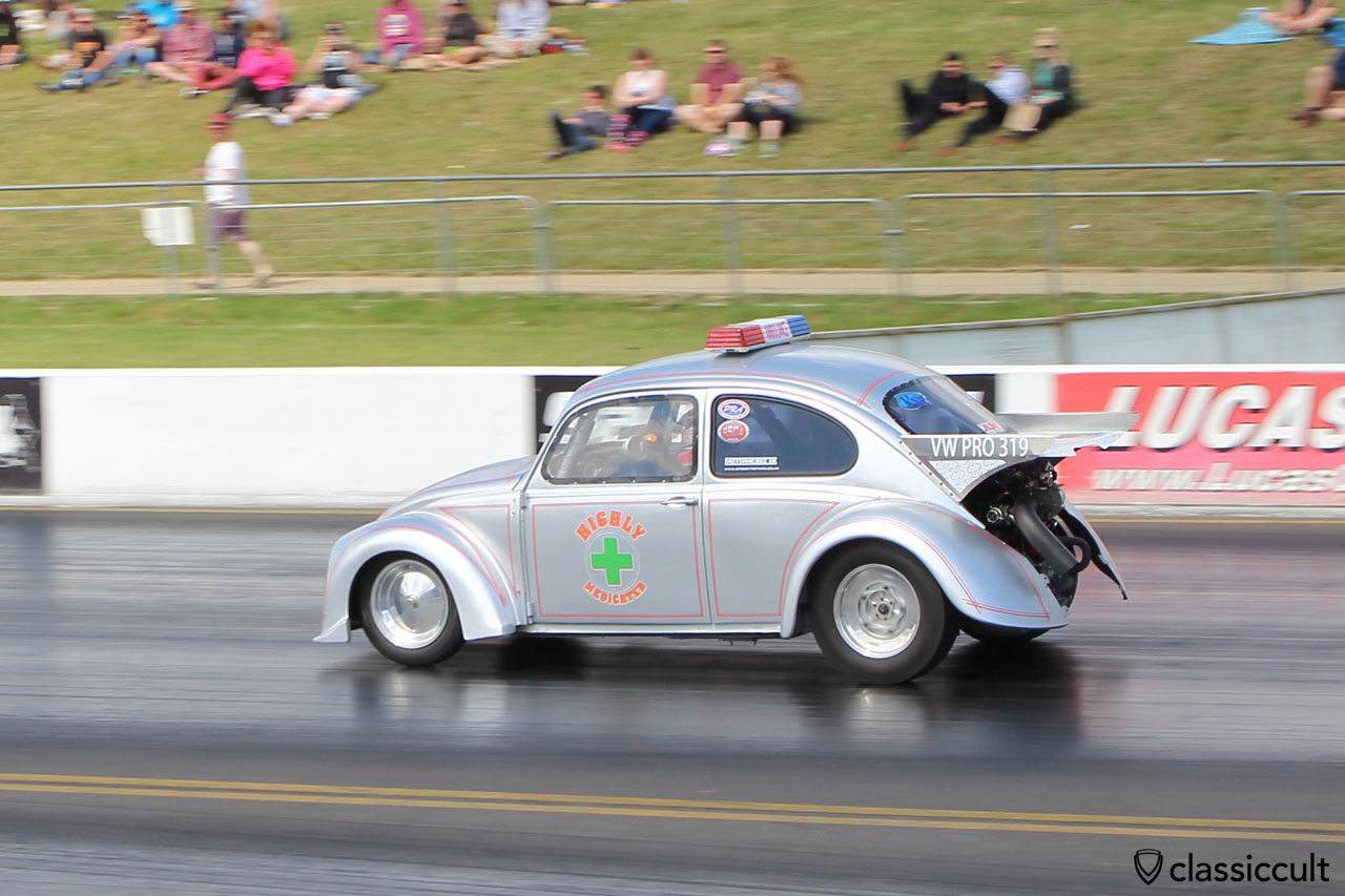 Highly Medicated 1965 VW Turbo Beetle, Santa Pod Raceway