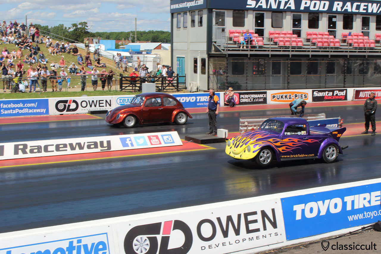 Santa Pod Raceway VW Beetle drag race