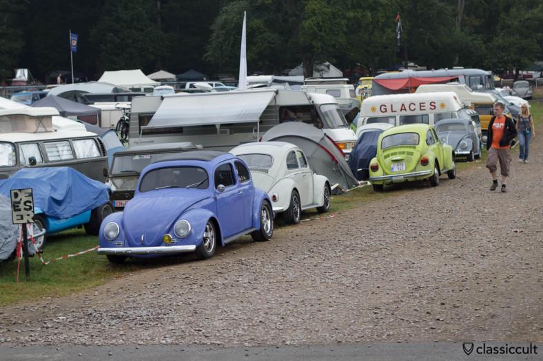 Le Bug Show campsite August 3, 7:41 a.m.