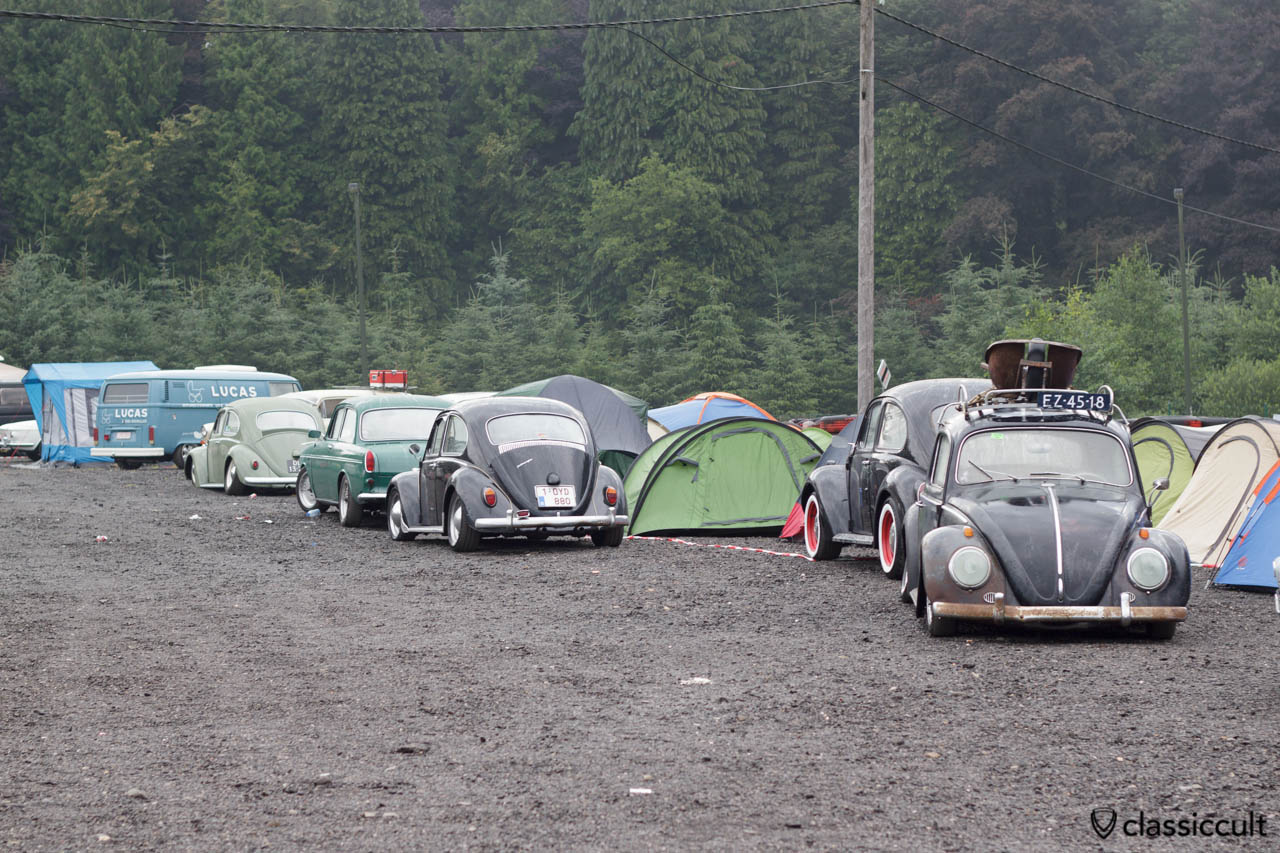 VW Beetles and camping tents Bug Show 2013.