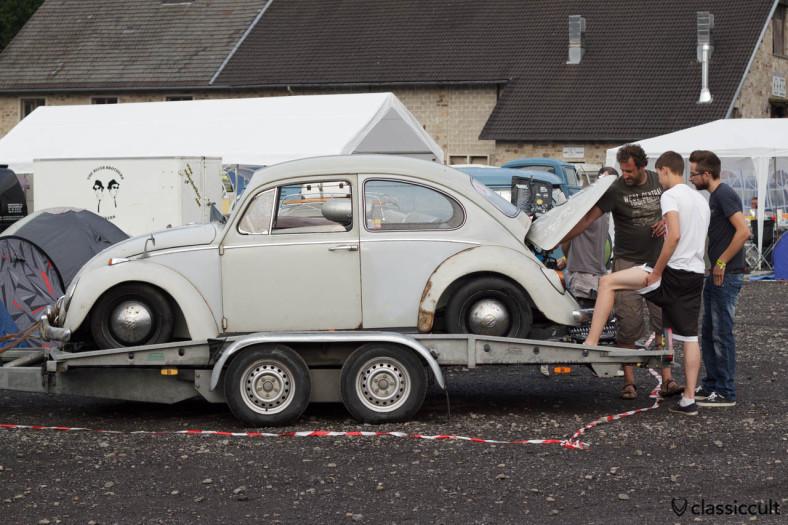 VW Beetle motor adjustment Bugshow Spa 2013