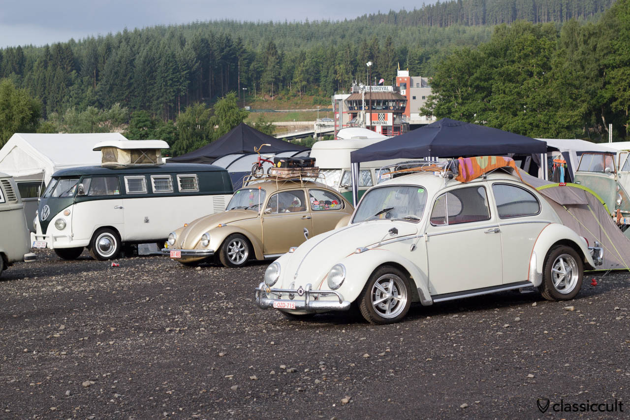 VW Beetles with roof rack Bug Show 2013