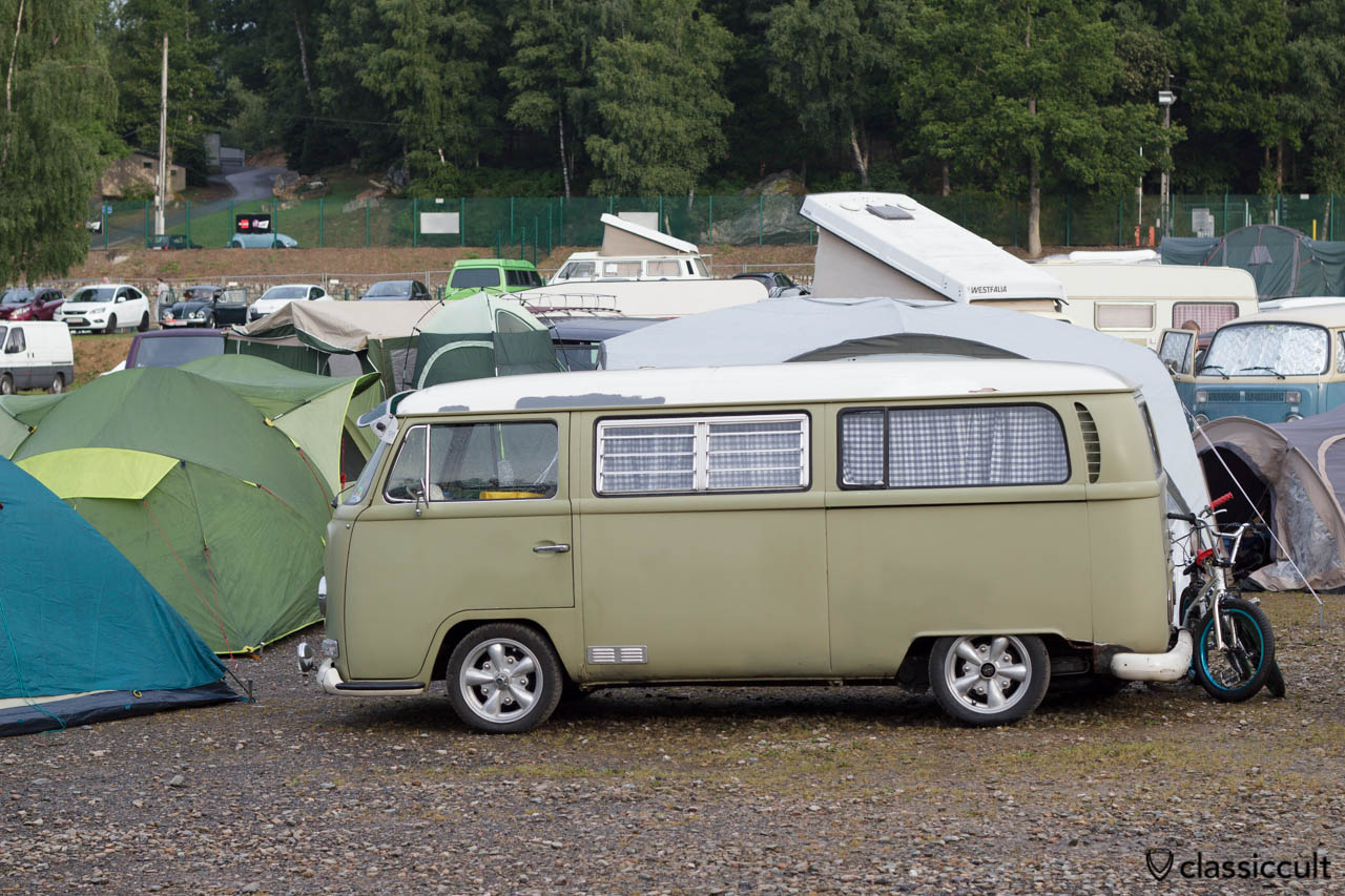 T2a Camper Bus camping at VW Bug Show Spa Francorchamps 2013