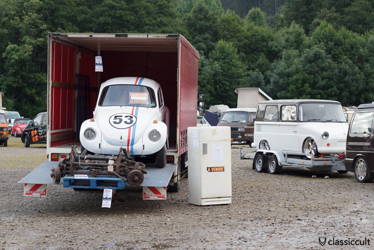 Cox 1303 Herbie 53 for sale at le Bug Show 2013 Spa Franchorcham