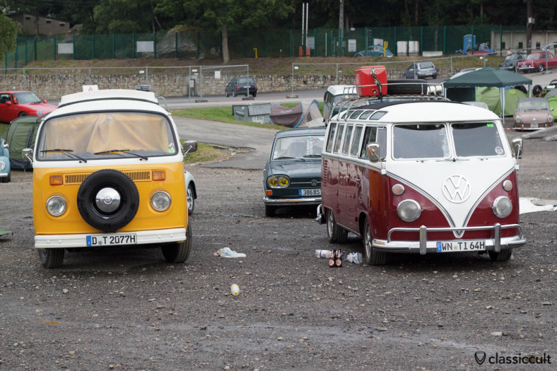 1964 VW T1 Deluxe and 1977 T2 Camper Bus