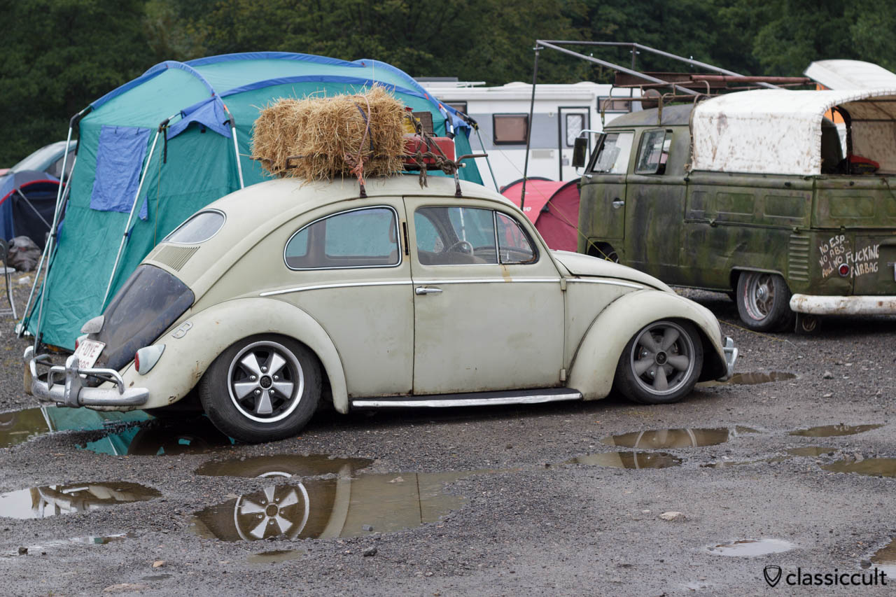 Belgian VW Oval Bug with roof rack