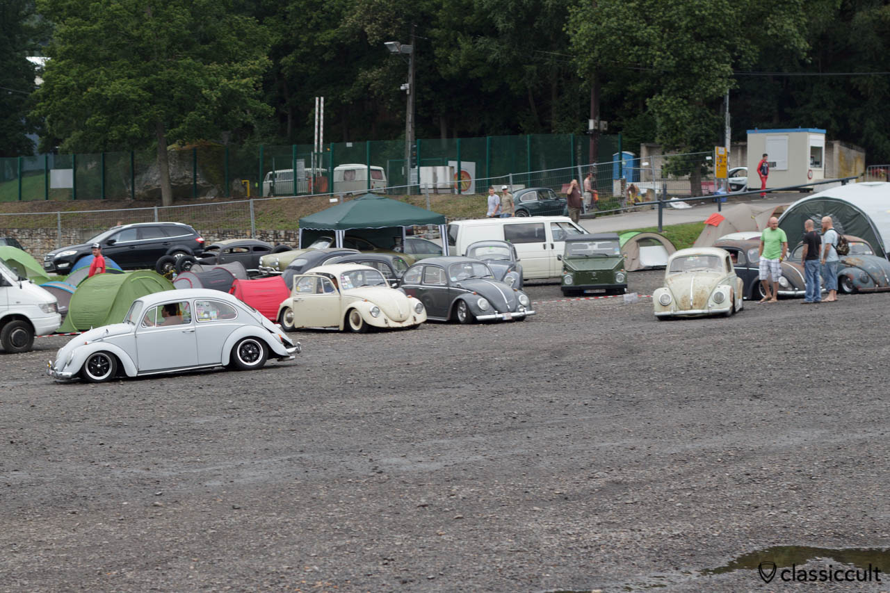 slammed VW Beetles at Le Bug Show campsite 2013