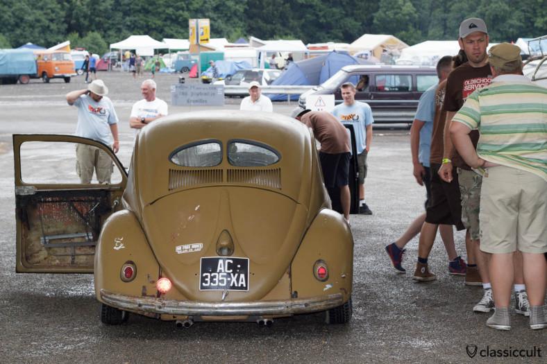 VW Split Bug with 4 tip exhaust Bug Show 2013
