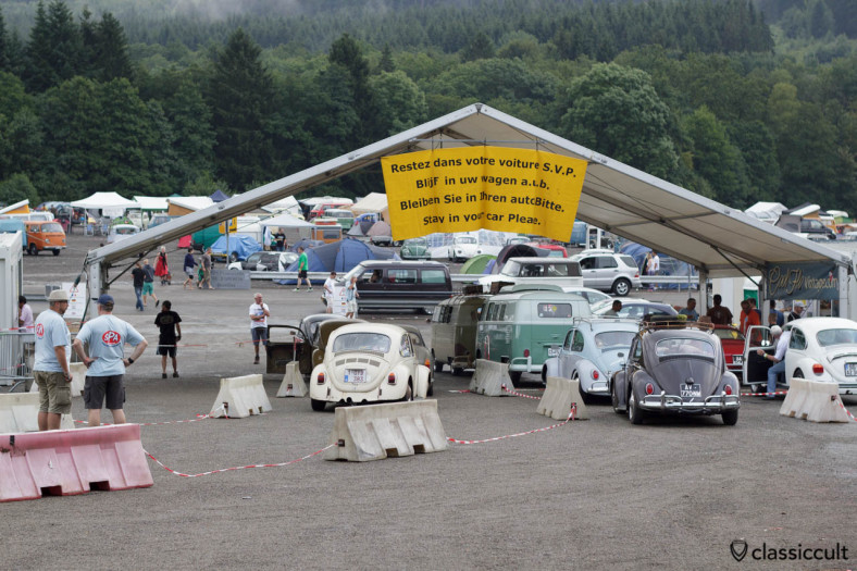 Classic VW Registration at Le Bug Show Spa 2013