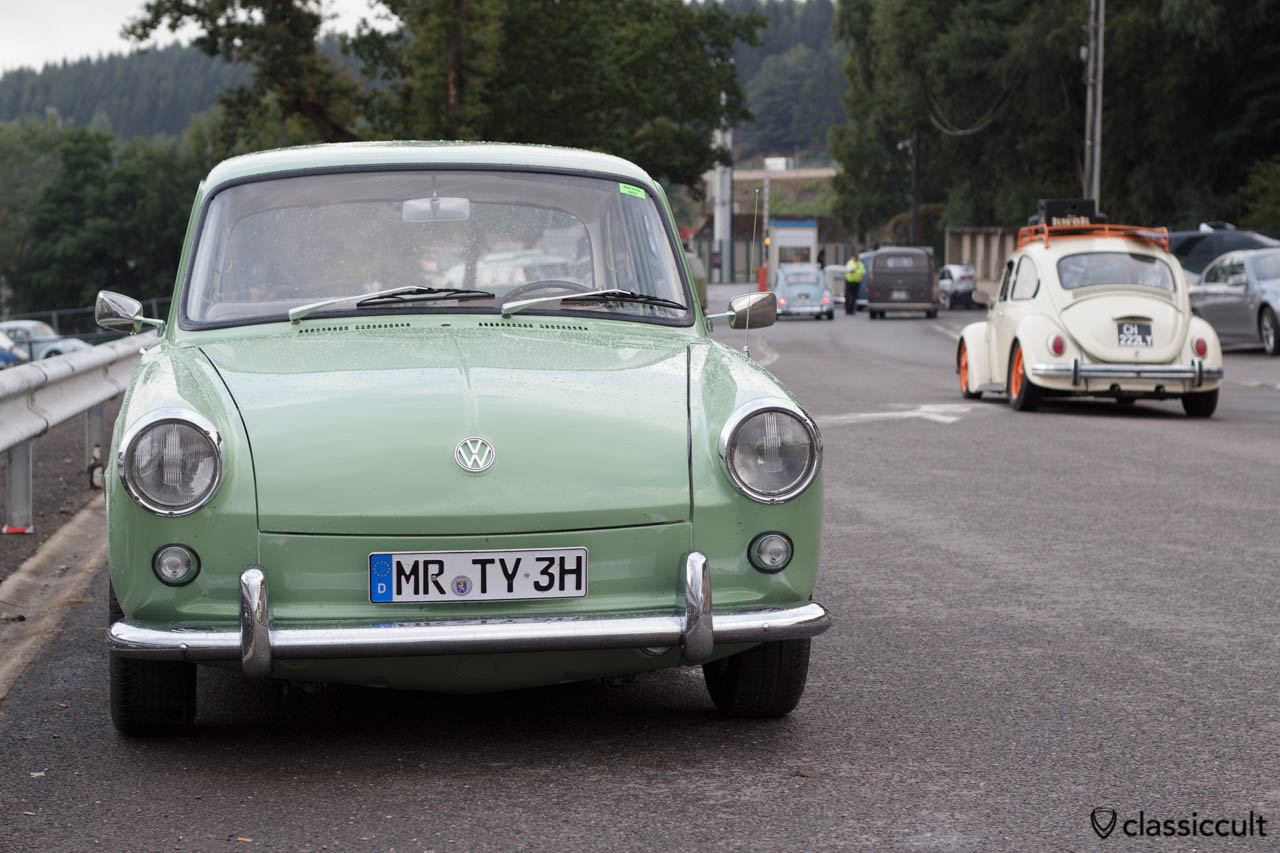 VW 1500 Notchback with cool registration plate