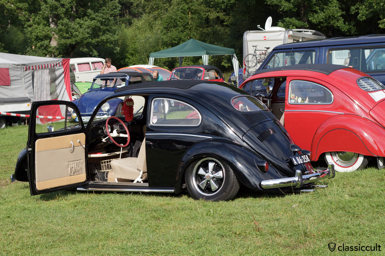 Black VW Oval Beetle