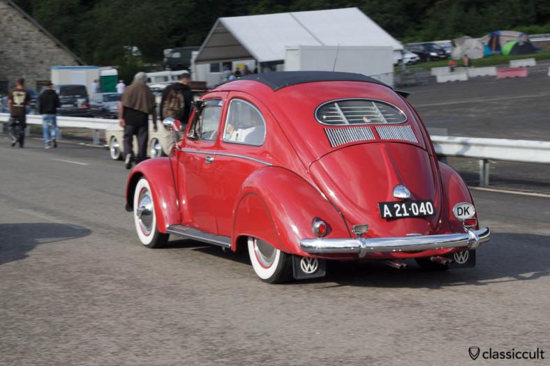 VW Oval Beetle driving