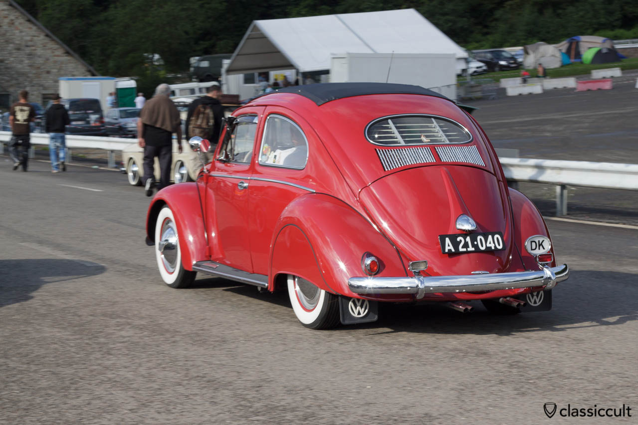 VW Oval Beetle driving