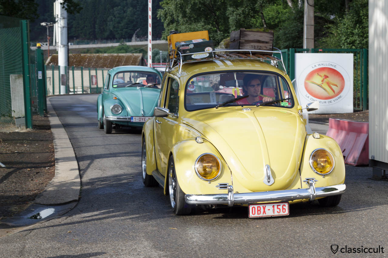 yellow VW Bug with yellow headlights