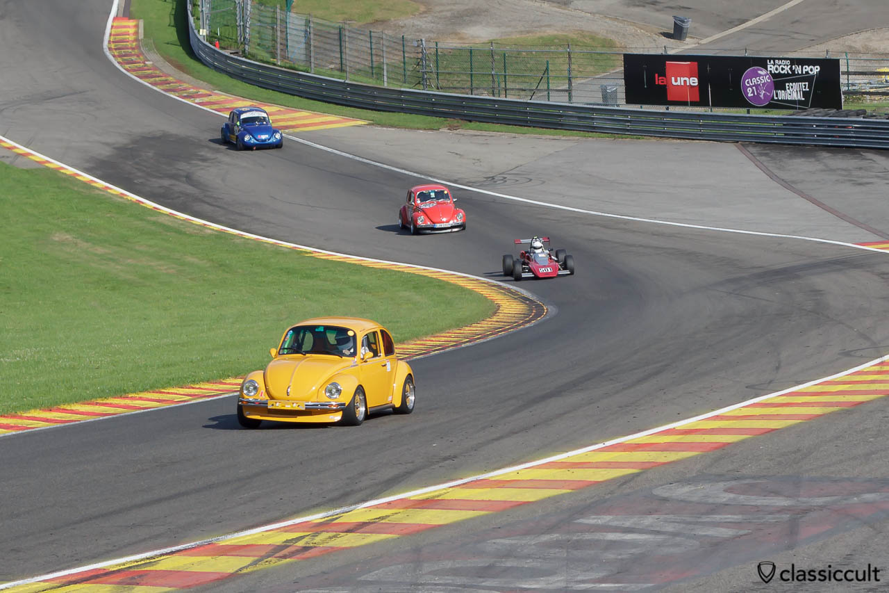 Racing VW Beetles at Spa Francorchamps race track Bug Show 2013
