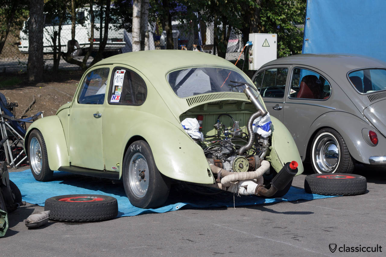 VW Race Bug with loud muffler