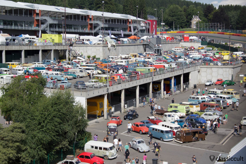 Classic VW parking at Bug Show Spa 2013 Francorchamps