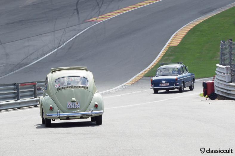 VW Ragtop Beetle on Circuit de Spa Francorchamps 2013.