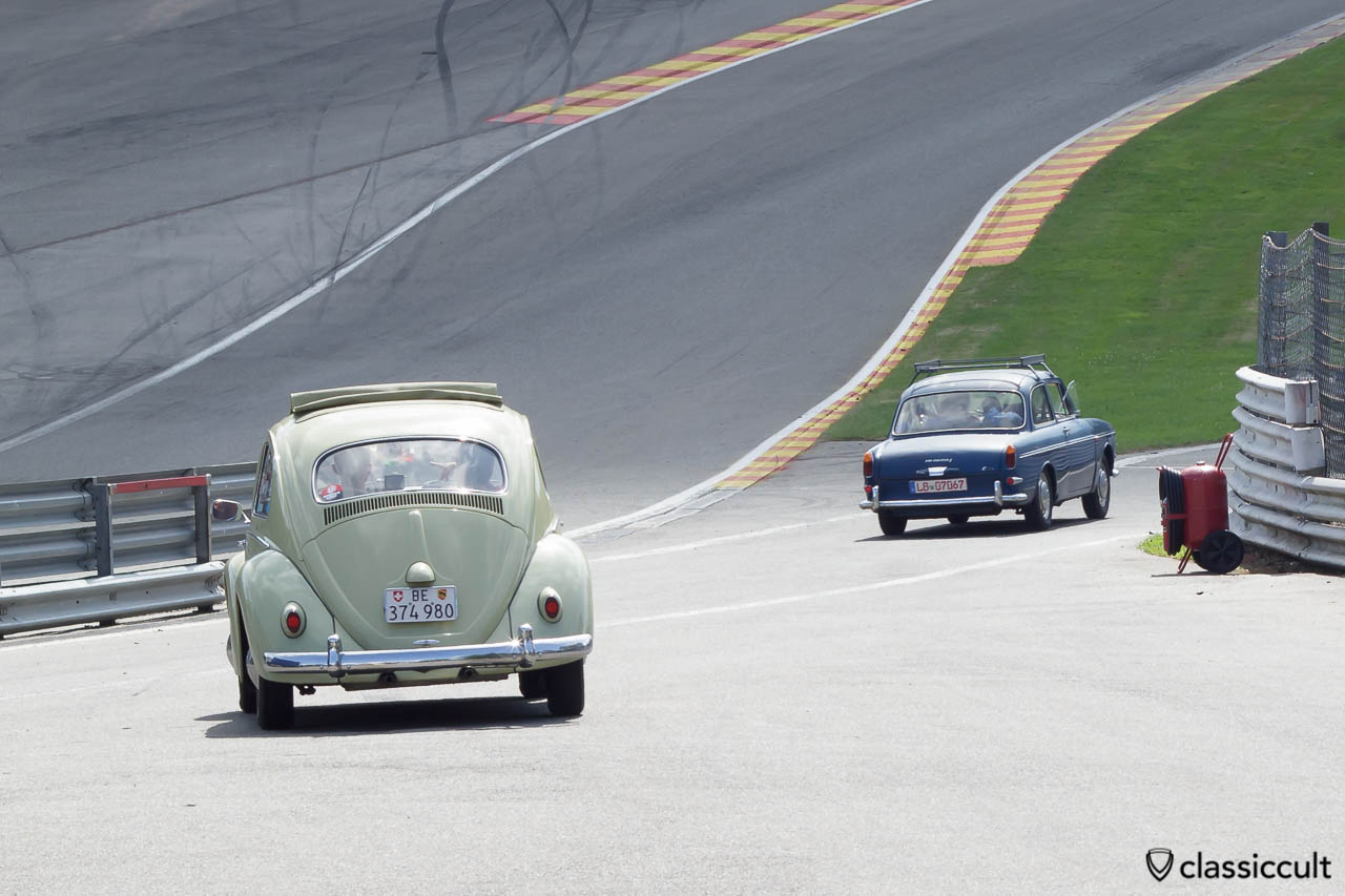 VW Ragtop Beetle on Circuit de Spa Francorchamps 2013.