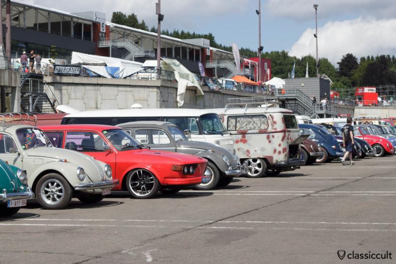 Classic Volkswagen line up Bug Show 2013