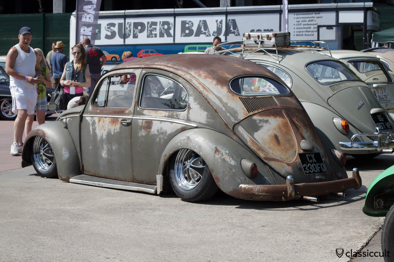 slammed Oval Bug with Patina