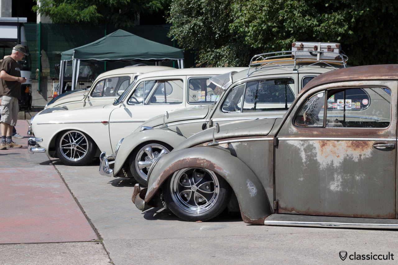 VW Oval Bug slammed