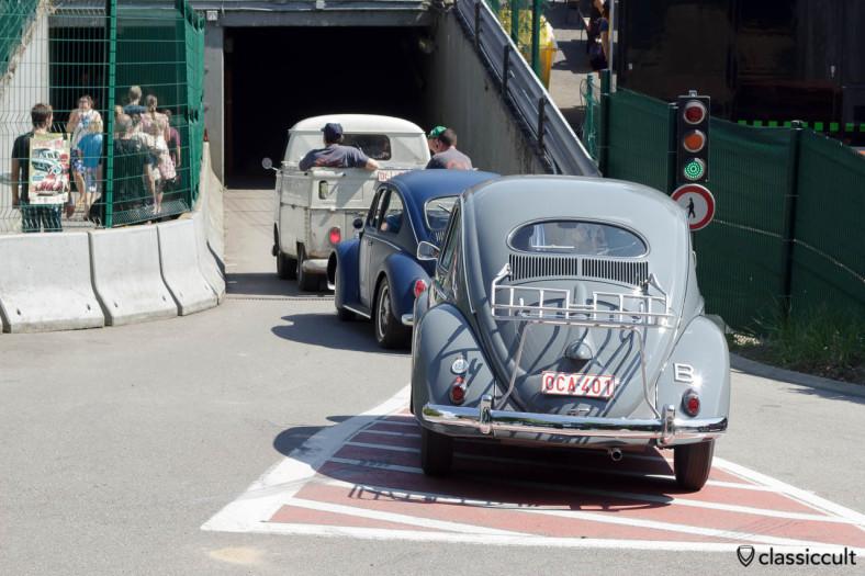 VW Oval Bug with decklid rack