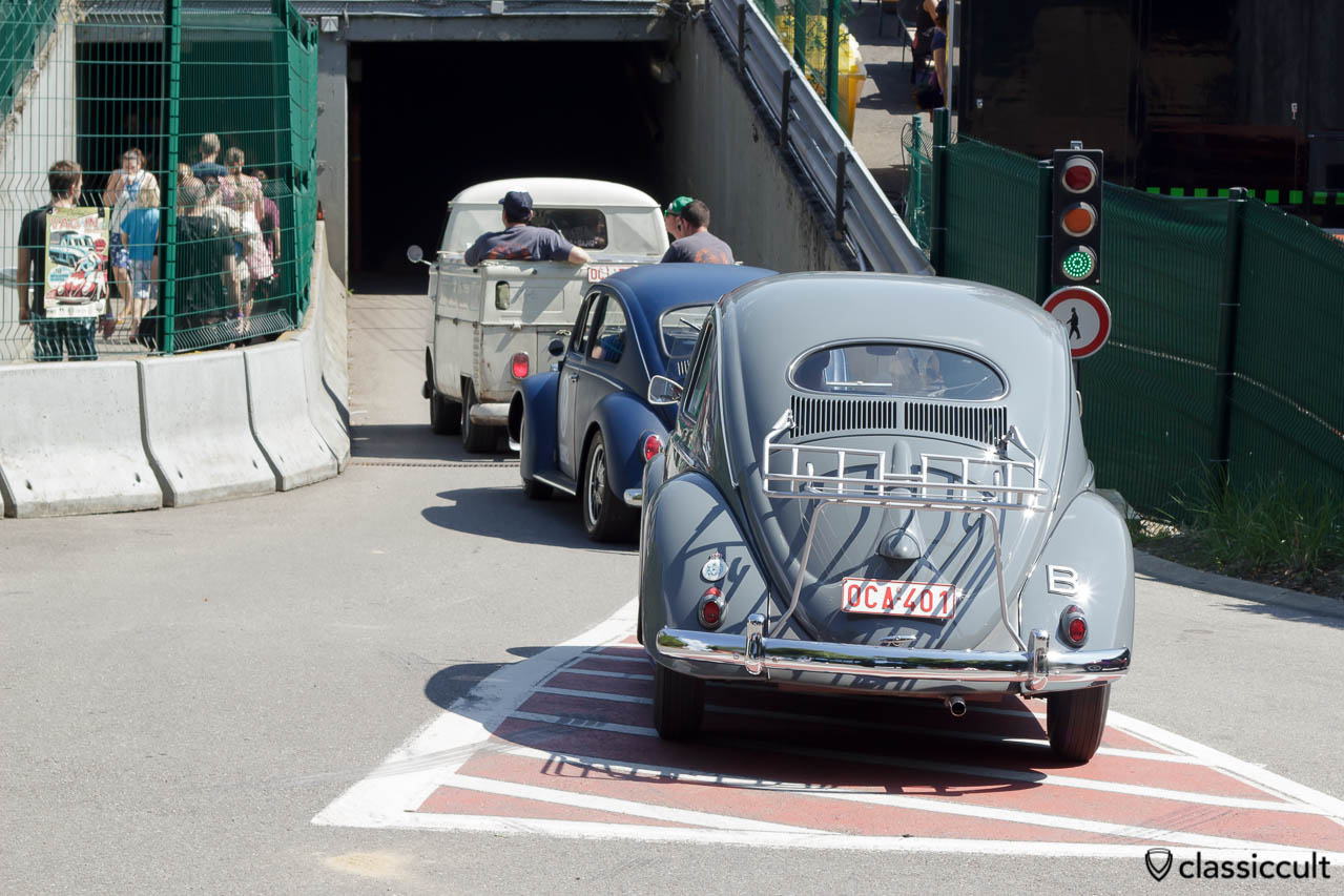 VW Oval Bug with decklid rack