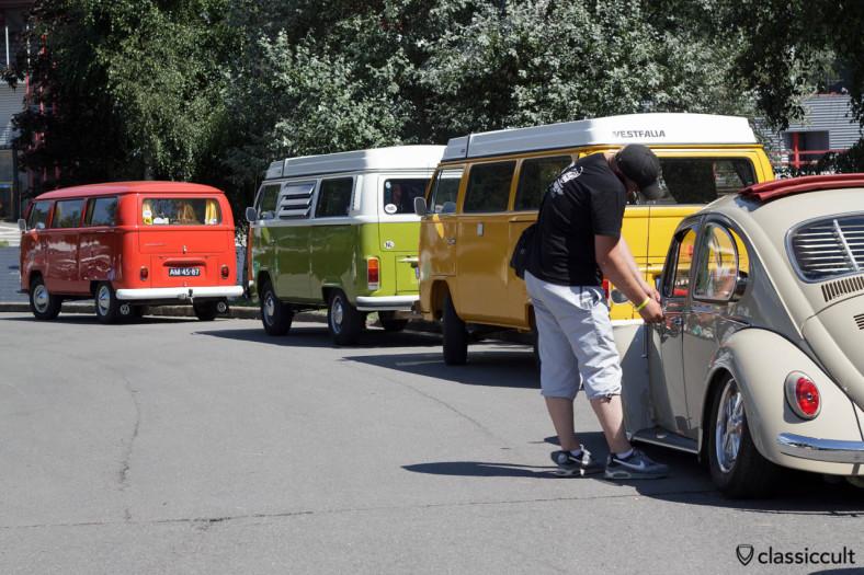 VW Ragtop Bug and Westfalia Bus