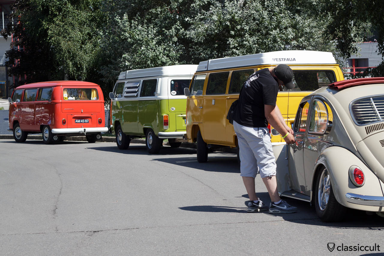 VW Ragtop Bug and Westfalia Bus