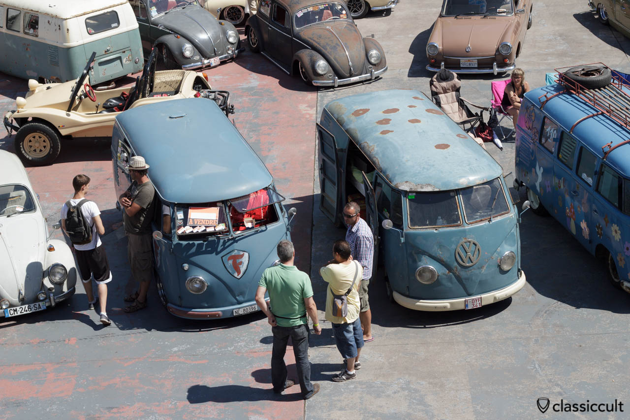 Patina Splitty Bus at VW Bug Show Spa 2013