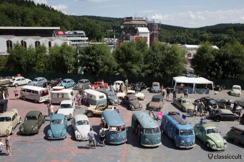 Buses view from above VW Bug Show 2013