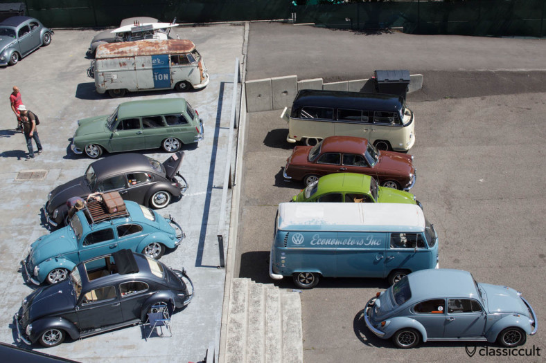Aircooled VWs view from above le Bug Show SPA 2013