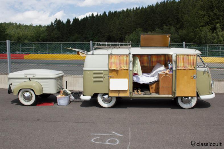 VW T1 Camper Van with trailer