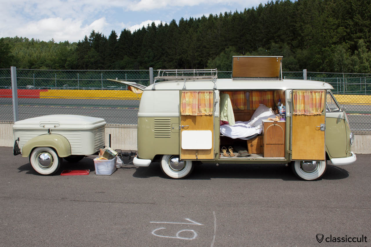 VW T1 Camper Van with trailer