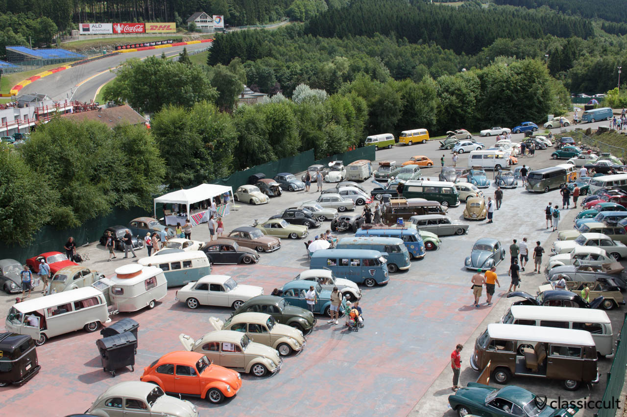 Air-cooled VWs at Spa 2013.