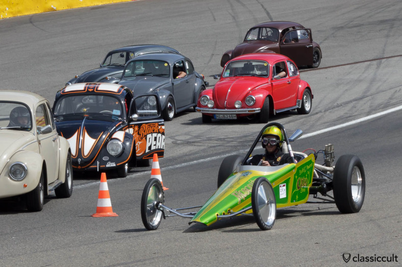 Mosquito VW Dragster Otto Brothers at Bug Show Spa 2013