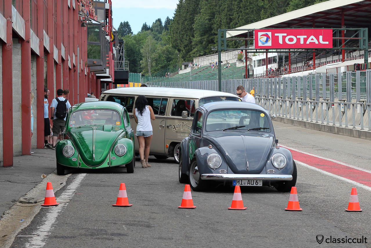 Racing Beetles at Spa-Francorchamps Pit stop 2013.