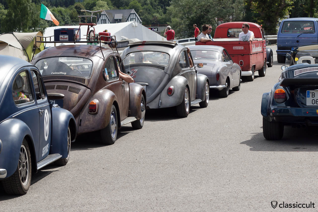 VW Beetles ready for the big parade at 4:10 p.m. SPA Bug Show 2013.