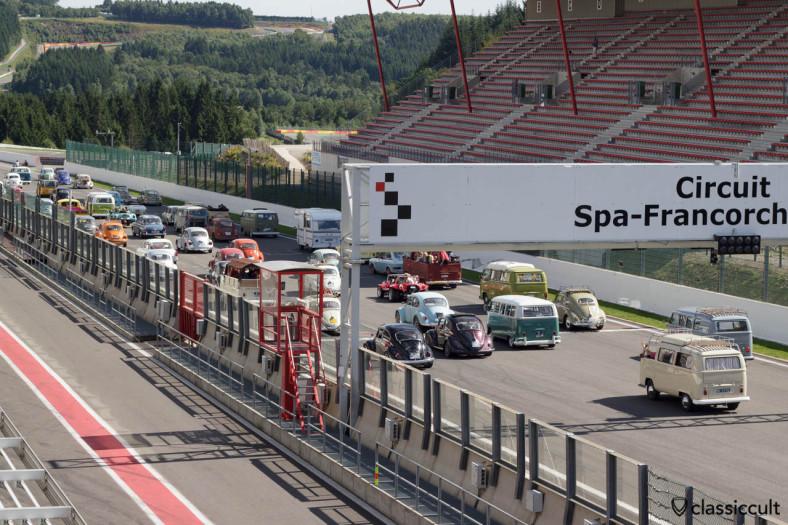 Big VW Parade Circuit Spa Francorchamps 2013.