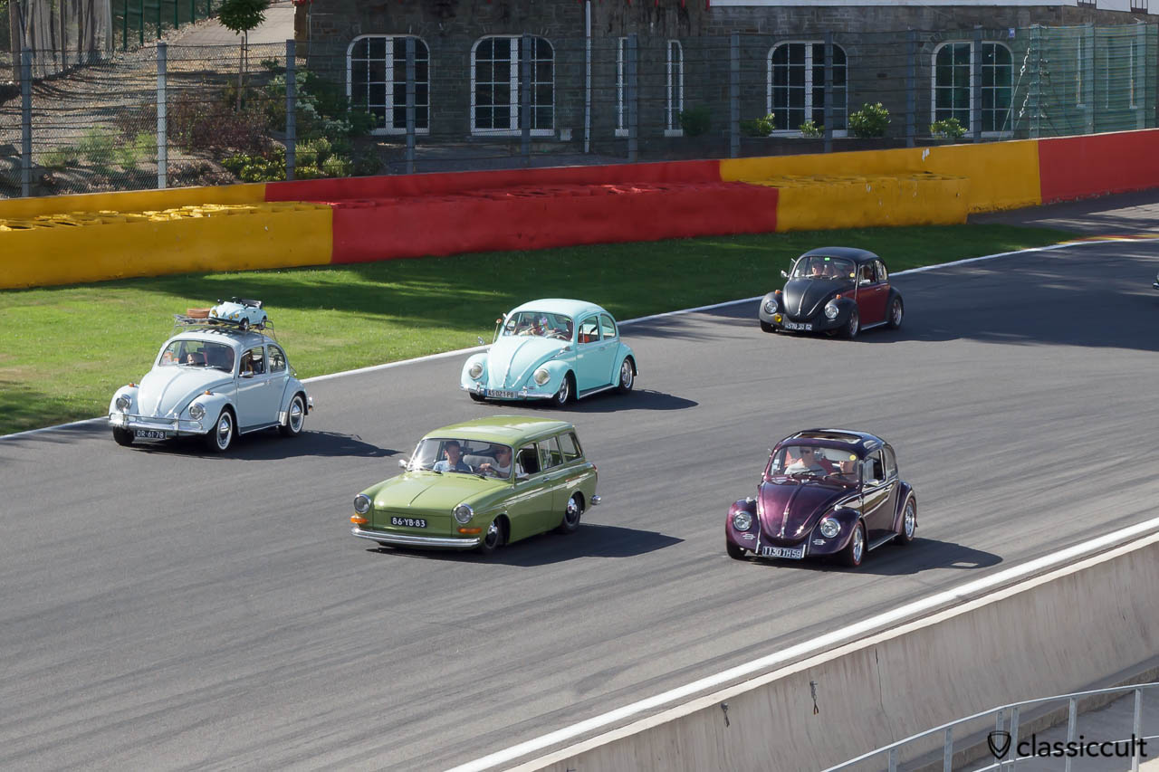 VW Type 3 and Beetles at Circuit de Spa 2013