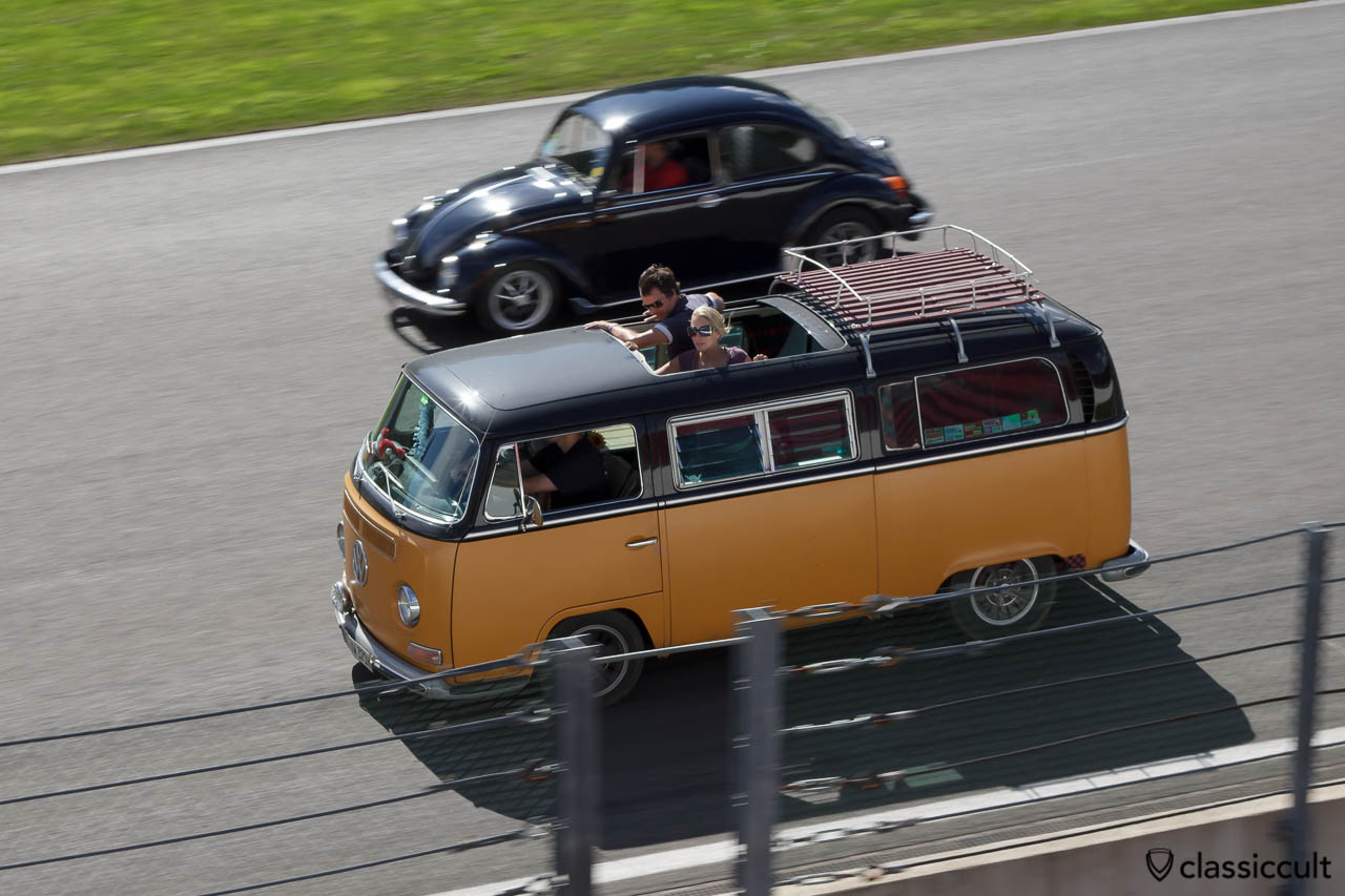 VW T2a Sunroof cruising on Circuit de Spa.